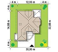 Минимальные размеры участка для проекта Z58