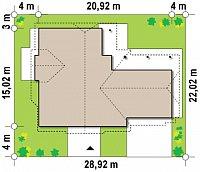 Минимальные размеры участка для проекта Z59