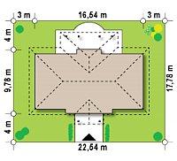 Минимальные размеры участка для проекта Z5
