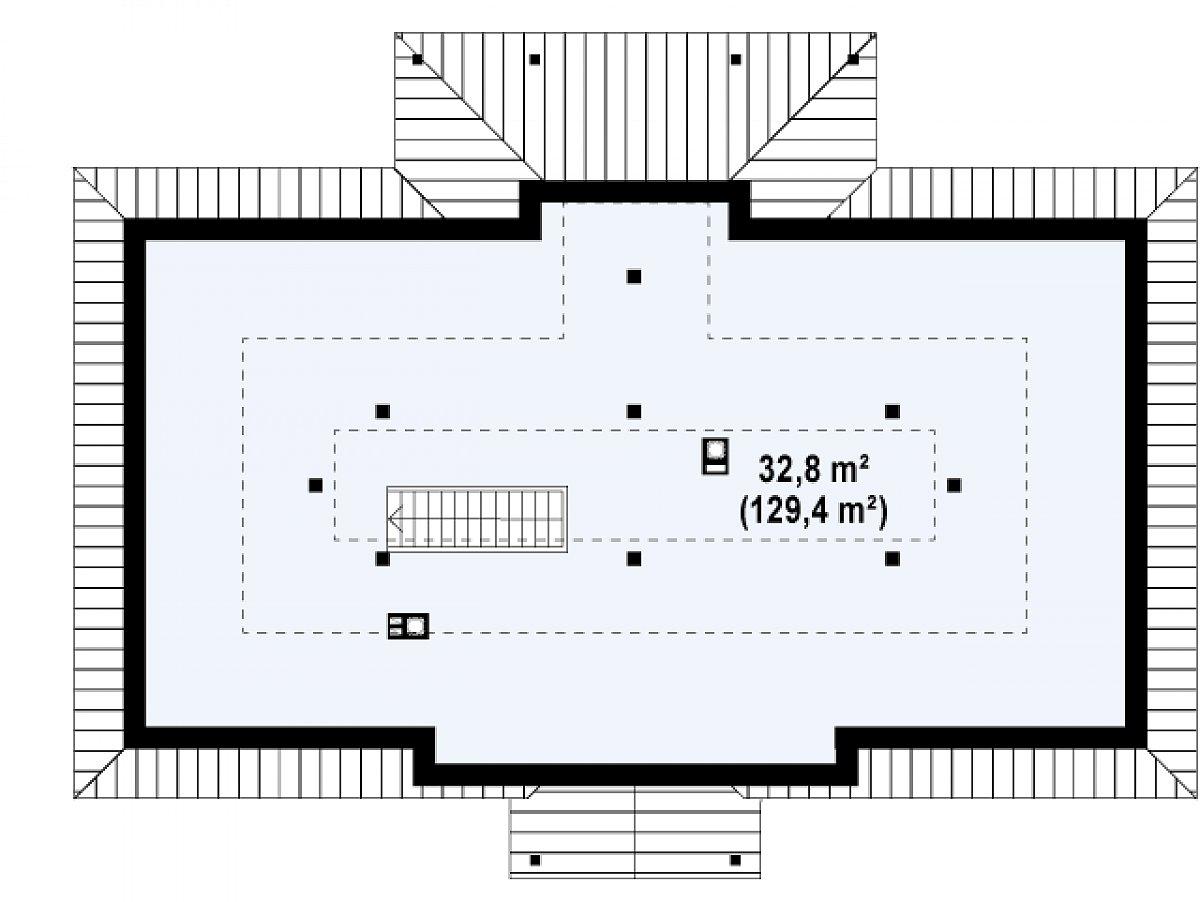 Второй этаж 32,8(129,4м²) дома Z5