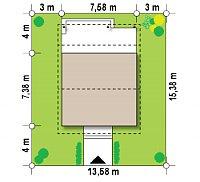 Минимальные размеры участка для проекта Z60