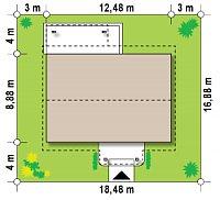 Минимальные размеры участка для проекта Z61