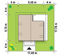 Минимальные размеры участка для проекта Z62