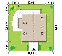 Минимальные размеры участка для проекта Z63
