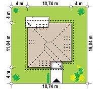 Минимальные размеры участка для проекта Z64 a