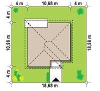 Минимальные размеры участка для проекта Z64