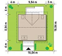 Минимальные размеры участка для проекта Z65 v2