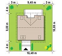 Минимальные размеры участка для проекта Z65