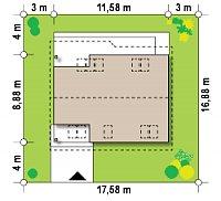 Минимальные размеры участка для проекта Z66