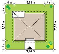 Минимальные размеры участка для проекта Z67 A