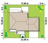 Минимальные размеры участка для проекта Z67