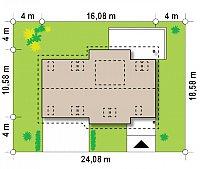 Минимальные размеры участка для проекта Z68 GL2