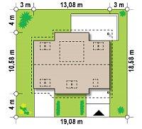 Минимальные размеры участка для проекта Z68