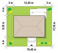 Минимальные размеры участка для проекта Z69