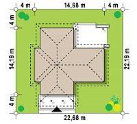 Минимальные размеры участка для проекта Z6