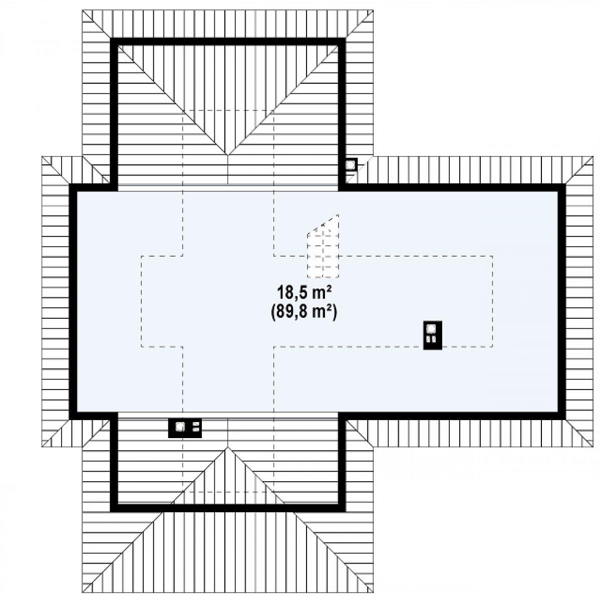 Второй этаж 18,5(89,8м²) дома Z6