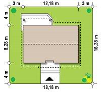 Минимальные размеры участка для проекта Z7 35