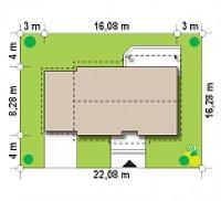 Минимальные размеры участка для проекта Z7 L GL