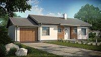 Проект дома с мансардой и гаражом Z7 L GL