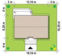 Минимальные размеры участка для проекта Z7 P 35
