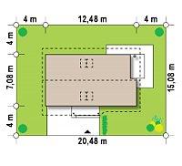 Минимальные размеры участка для проекта Z71 GL