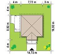 Минимальные размеры участка для проекта Z73