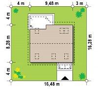 Минимальные размеры участка для проекта Z75