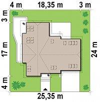 Минимальные размеры участка для проекта Z76