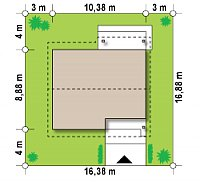 Минимальные размеры участка для проекта Z78