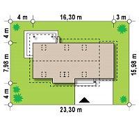 Минимальные размеры участка для проекта Z79 GP