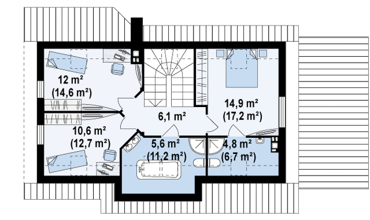Второй этаж 54,0(68,4м²) дома Z79 GP