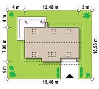 Минимальные размеры участка для проекта Z79