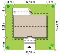 Минимальные размеры участка для проекта Z7