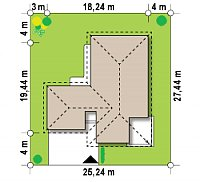 Минимальные размеры участка для проекта Z80