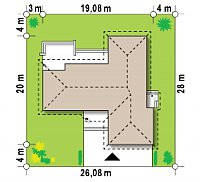 Минимальные размеры участка для проекта Z81