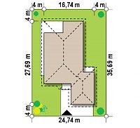 Минимальные размеры участка для проекта Z82
