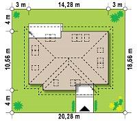 Минимальные размеры участка для проекта Z83