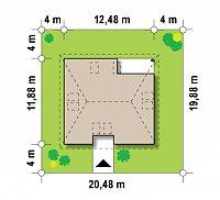 Минимальные размеры участка для проекта Z84