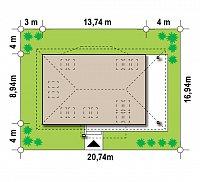 Минимальные размеры участка для проекта Z85 C