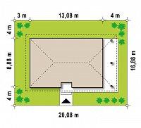 Минимальные размеры участка для проекта Z85