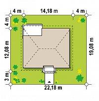 Минимальные размеры участка для проекта Z86 bG