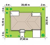 Минимальные размеры участка для проекта Z86