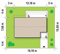 Минимальные размеры участка для проекта Z87