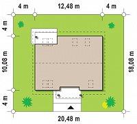 Минимальные размеры участка для проекта Z88