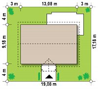 Минимальные размеры участка для проекта Z8