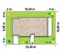Минимальные размеры участка для проекта Z90