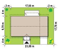 Минимальные размеры участка для проекта Z91 GP