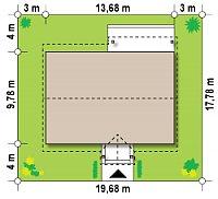 Минимальные размеры участка для проекта Z91