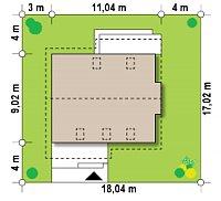 Минимальные размеры участка для проекта Z92