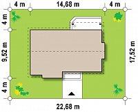 Минимальные размеры участка для проекта Z93